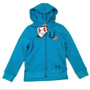 Under Armour youth xs full zip teal hoodie new